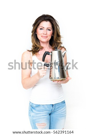 Woman with utilities