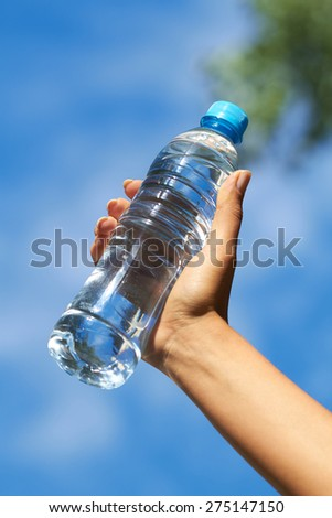 woman with water - stock photo