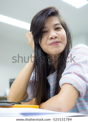 Woman working in archives