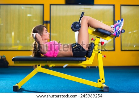 Woman working out in fitness - Active girl - stock photo