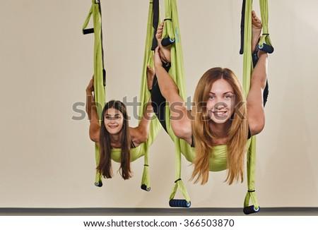 woman yoga portrait - stock photo