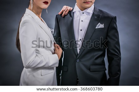 Women and man suit