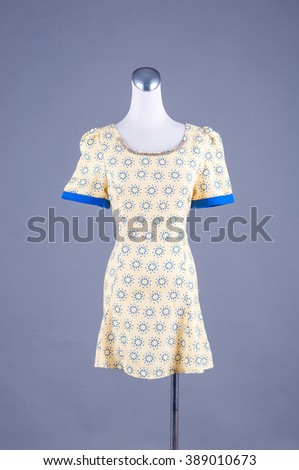 Women beautiful dress on mannequin on white background