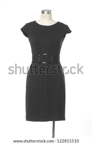 Women beautiful vest dress on mannequin on white background