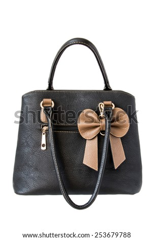 Women black bag on a white background