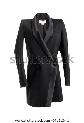 Women Black Classic Jacket - stock photo
