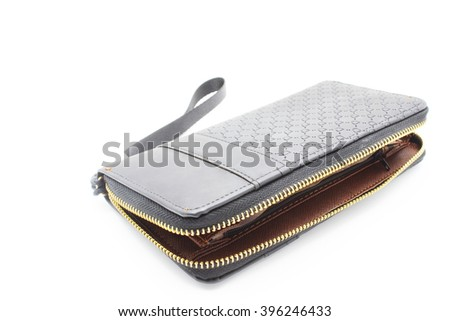 Women Black Wallet isolated