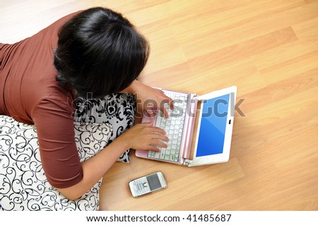 Women browsing internet