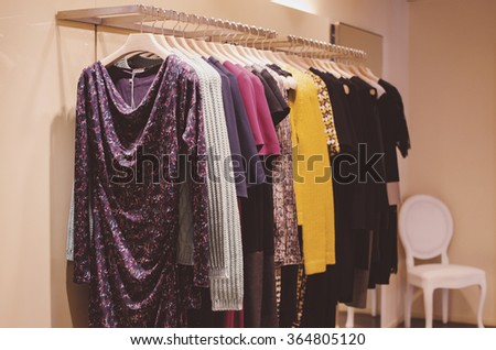 Women clothing shop - stock photo