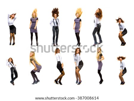 Women Diversity Isolated over White  - stock photo