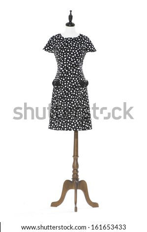 Women elegant dress on mannequin on white background