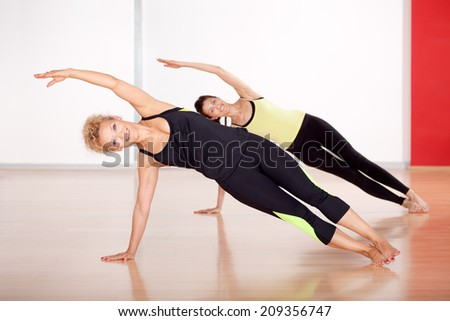 Women exercise in the gym