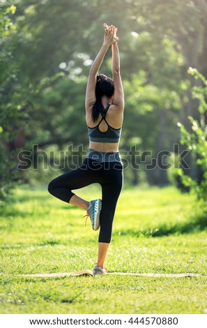 Women exercising at outdoors