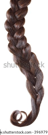 Women hair braid on a white background.
