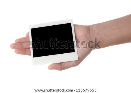 Women hand holding photography