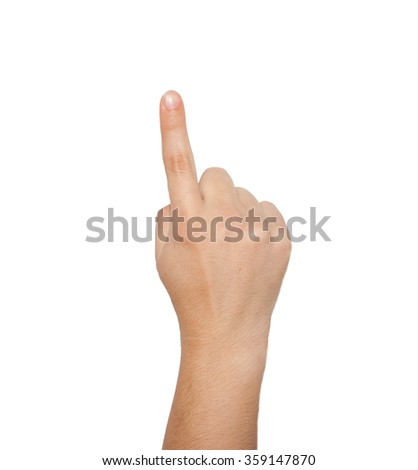 Women hand isolated on a white background