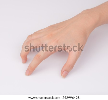 Women hand isolated on white background - stock photo