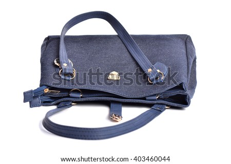 Women handbag isolated over white
