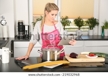 women in kitchen - stock photo
