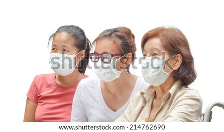 Women in protective medical mask