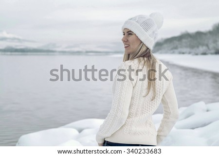 Women in white at winter.