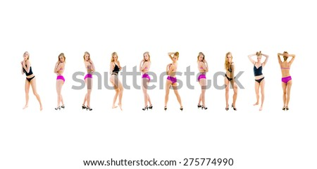 Women Isolated Sexy Couture  - stock photo