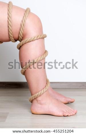 Women leg with stroke - stock photo