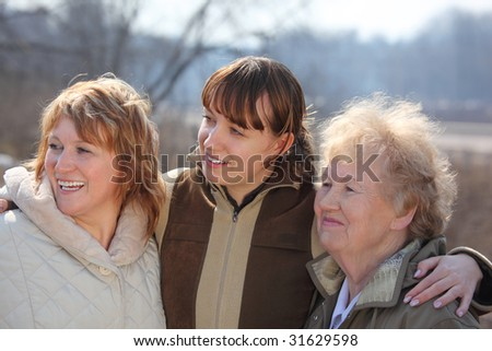 Women of three generations of one family