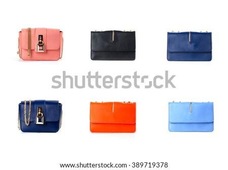 women purse isolated on white background - stock photo