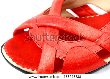 Women's beautiful light shoes for walking on each day on a white background