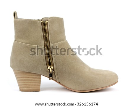 Women's boots on a white background.