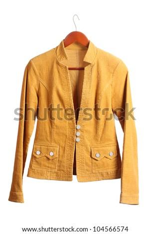 Women's brown jacket - stock photo