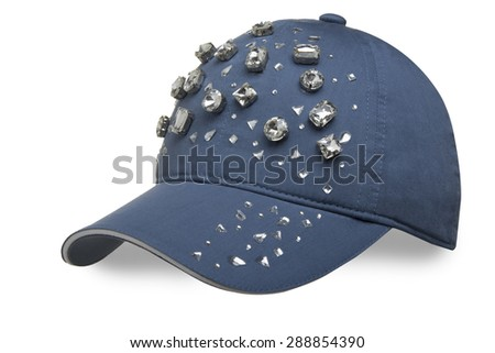 Women's cap on a white background - stock photo