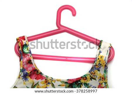Women's clothing hanging on hangers