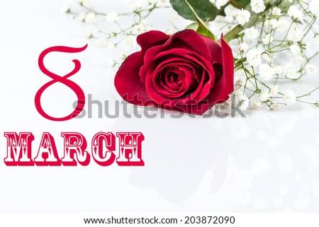 women's day greeting - stock photo