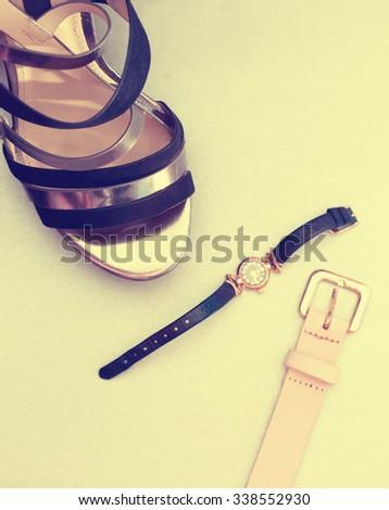 women's fashion accessories - stock photo