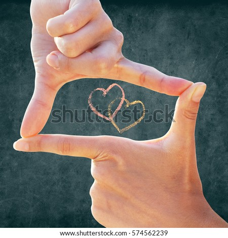 Womens Hands Make Focus Photo Frame Stock Photo (Edit Now)- Shutterstock