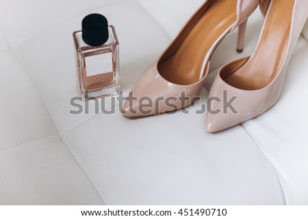 Women's high heels with perfume