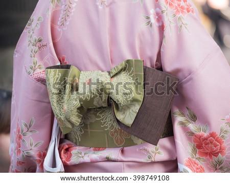 Women's kimono - stock photo