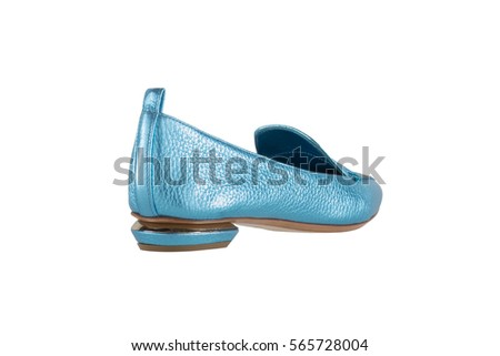 Women's shoes on a white background. premium footwear. Italian branded shoes.