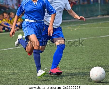 Women's soccer match - stock photo