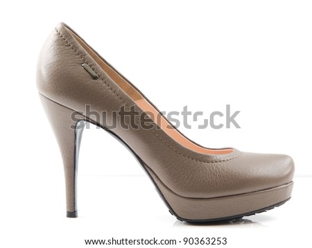 women shoe on white background