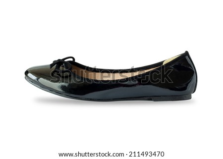 Women Shoes Isolated On White Background - stock photo
