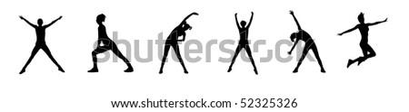 Women silhouette - stock photo