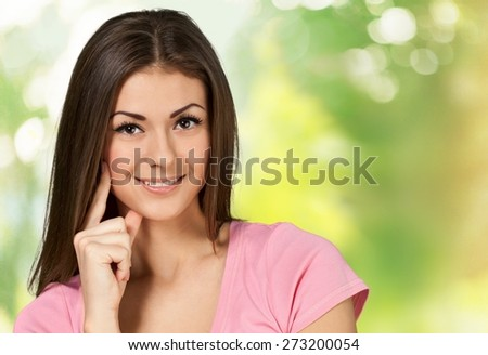 Women, Smiling, Beauty. - stock photo