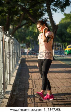 Women stretching outdoor cross training workout