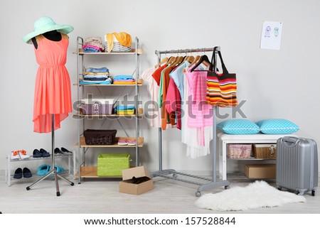 Women wardrobe  - stock photo