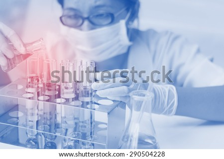 Women were tested in the lab - stock photo