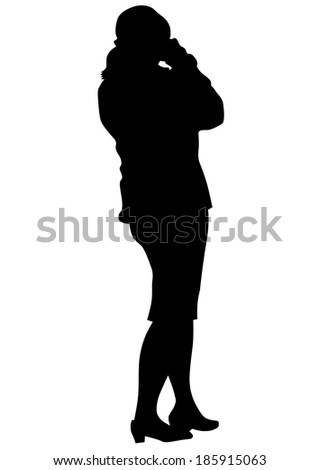 women with a photo camera on white background