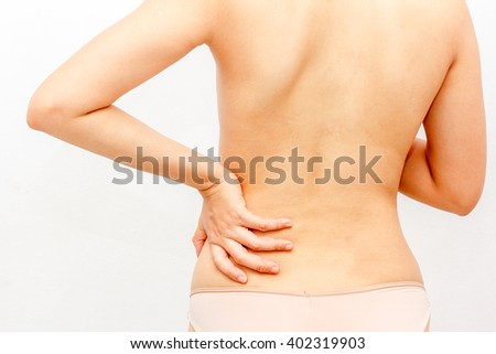 Women with back pain, health and  Medi cal concep